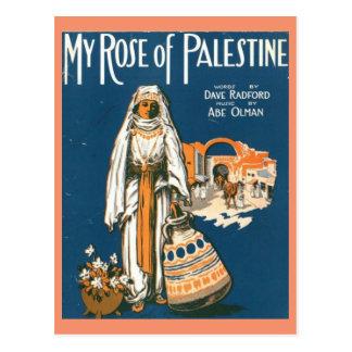 Mijn nam van het briefkaart van Palestina toe