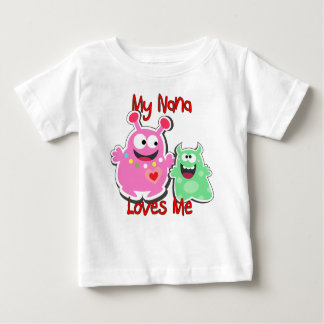 Mijn Nana Loves Me Monster Baby T Shirts