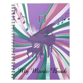 Mijn Notitieboekje van de Muziek van de Nota's van Notitieboeken
