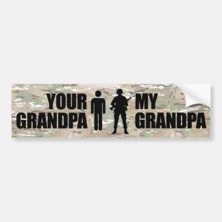Mijn Opa is in de Militairen Bumpersticker
