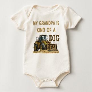 Mijn Opa is Vriendelijk van een DIG Overeenkomst Baby Shirt
