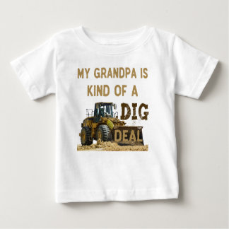Mijn Opa is Vriendelijk van een DIG Overeenkomst Baby T Shirts