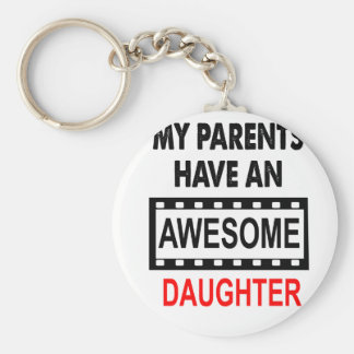 Mijn Ouders hebben een Geweldige Dochter Basic Ronde Button Sleutelhanger