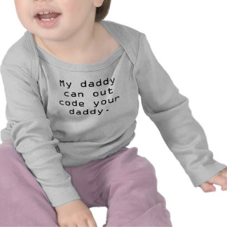 Mijn papa kan uw papa uit coderen tshirt