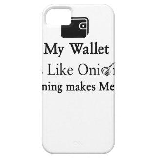 Mijn Portefeuille is als een Ui, maakt het Openen Barely There iPhone 5 Hoesje