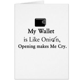 Mijn Portefeuille is als een Ui, maakt het Openen Wenskaart