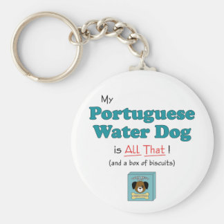 Mijn Portugese Hond van het Water is dat alles! Basic Ronde Button Sleutelhanger