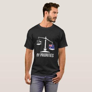 Mijn Prioriteiten Australië tipt de Vlag van T Shirt