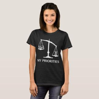 Mijn Prioriteiten Boston Terrier tipt het Art. van T Shirt