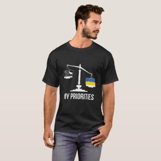 Mijn Prioriteiten de Oekraïne tipt de T-shirt van