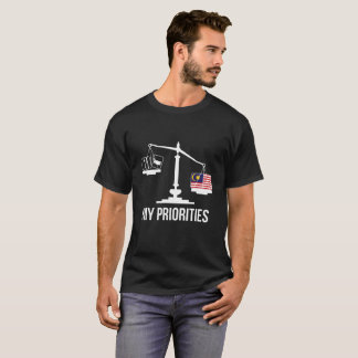 Mijn Prioriteiten Maleisië tipt de Vlag van T Shirt