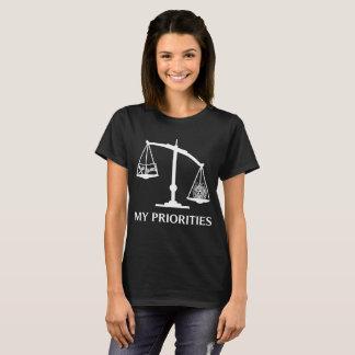 Mijn Prioriteiten Pomeranian tipt de T-shirt van