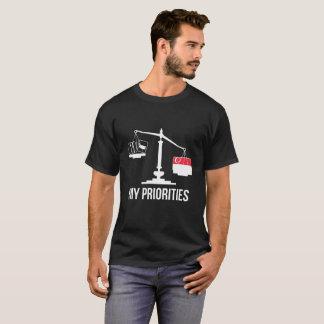 Mijn Prioriteiten Singapore tipt de Vlag van T Shirt