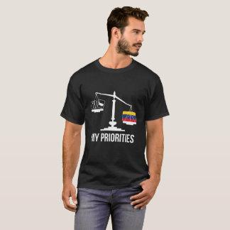 Mijn Prioriteiten Venezuela tipt de Vlag van T Shirt