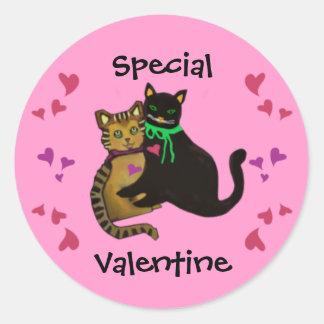Mijn Purrfect Valentijn Ronde Sticker