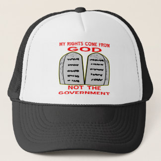 Mijn Rechten komen uit God niet de Overheid Trucker Pet