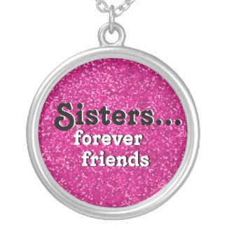 Mijn Roze van Vriend ooit | van de Zuster Beste Zilver Vergulden Ketting
