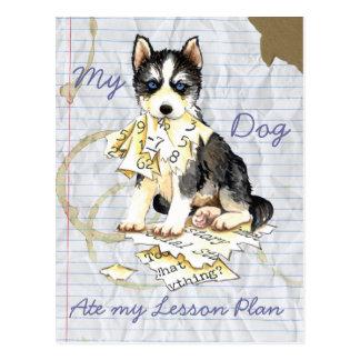 Mijn Schor at mijn Plan van de Les Briefkaart