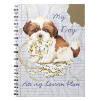 Mijn Shih Tzu at mijn Plan van de Les Ringband Notitieboek