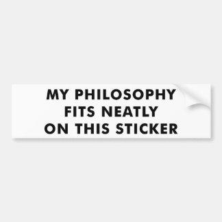 Mijn Sticker van de Bumper van de Filosofie Bumpersticker