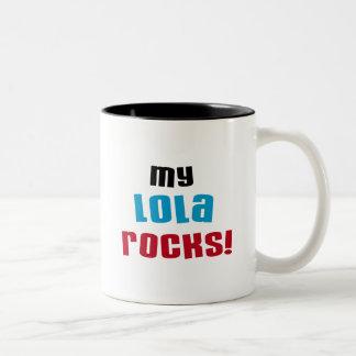 Mijn T-shirts en Giften van Rotsen Lola Tweekleurige Koffiemok