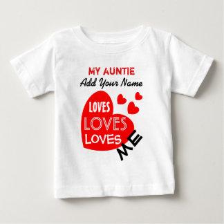 Mijn Tante houdt van me met de Rode Teksten van de Baby T Shirts