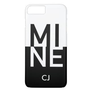 MIJN + Uw Initialen iPhone 7 Plus Hoesje