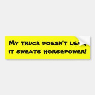 Mijn vrachtwagen lekt niet bumpersticker