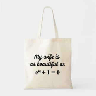 Mijn vrouw is zo mooi zoals de zak van de draagtas