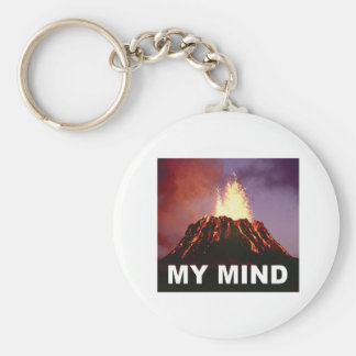 mijn vulkaanmening sleutelhanger