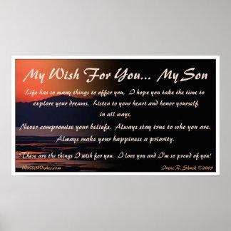 Mijn Wens voor u… Mijn Zoon Poster