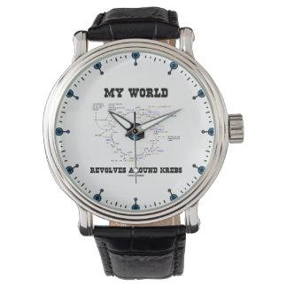 Mijn Wereld draait rond de Humor van de Biochemie Horloge