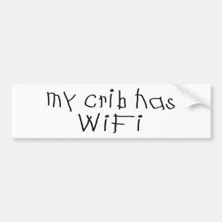 Mijn wieg heeft wifi bumpersticker