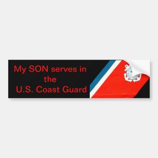 mijn zoon dient USCG Bumpersticker