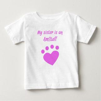 Mijn Zuster is een AmStaff Baby T Shirts