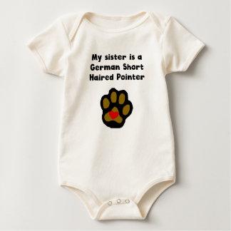 Mijn Zuster is een Duitse Kortharige Wijzer Baby Shirt