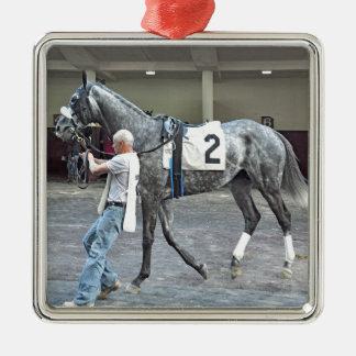 Mijnheer Monolo Zilverkleurig Vierkant Ornament