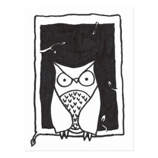 Mijnheer Owl Briefkaart