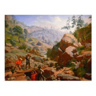 Mijnwerkers in de Siërra - 1851/1852 Briefkaart