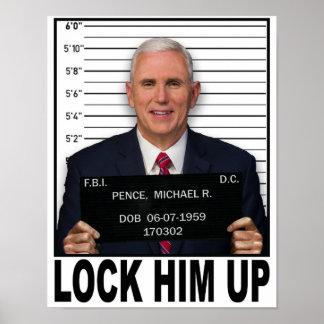 Mike Pence - sluit omhoog hem Poster