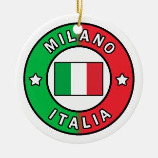 Milaan Italië Rond Keramisch Ornament