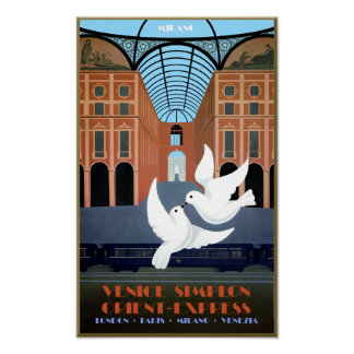 Milaan, oriënteert het Uitdrukkelijke Poster van