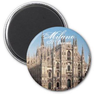 Milano_Duomo, Milaan, IL Duomo Ronde Magneet 5,7 Cm