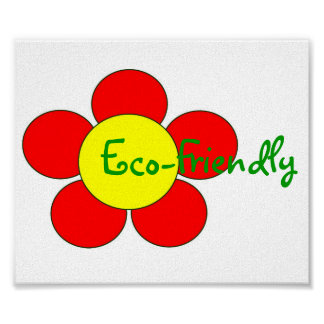 """""""Milieuvriendelijk"""" Klantgericht Poster -"""