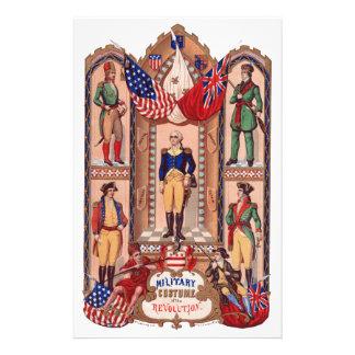 Militair Kostuum van Revolutionaire Oorlog 1855 Briefpapier