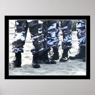 Militair laarzenposter poster