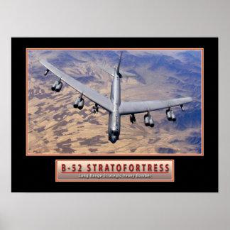 """Militair Poster van het Vliegtuig """"B-52"""