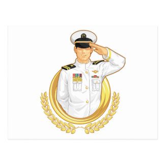 Militaire Ambtenaar in het Gebaar van de Begroetin