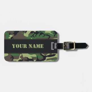 Militaire Camouflage Kofferlabel