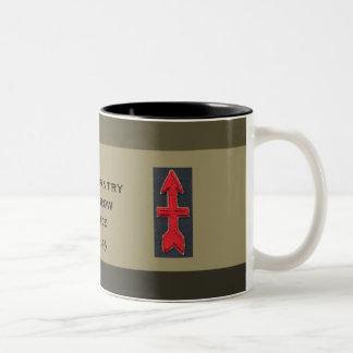 militaire Douane van de Brigade van de Pijl van de Tweekleurige Koffiemok